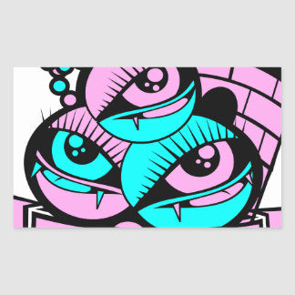 Sticker Rectangulaire oeil vampire fun