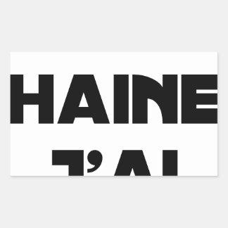 Sticker Rectangulaire OH HAINE J'AI - Jeux de mots - Francois Ville