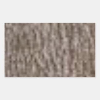 Sticker Rectangulaire ondulations de l'écorce blanche