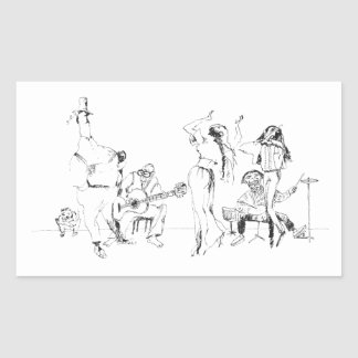 Sticker Rectangulaire Orchestre de rue