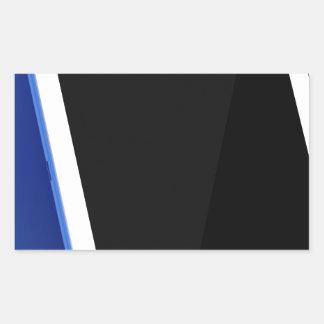 Sticker Rectangulaire Ordinateur de comprimé sur le blanc