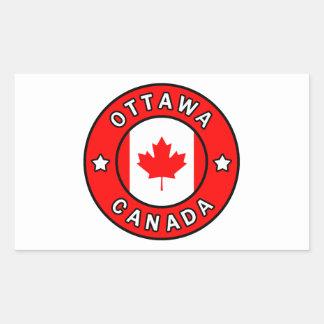 Sticker Rectangulaire Ottawa Canada