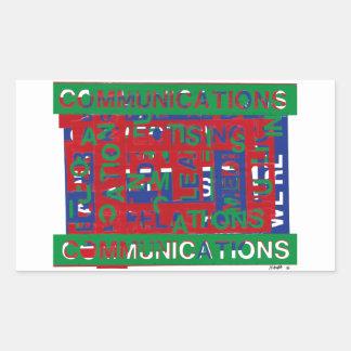 Sticker Rectangulaire Panne de communications
