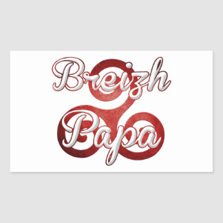 Sticker Rectangulaire Papa Bretagne
