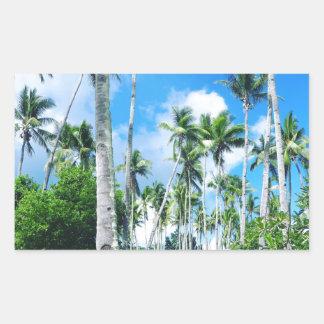 Sticker Rectangulaire Paradis dans le Pacifique