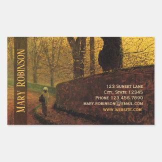 Sticker Rectangulaire Parc collant de Grimshaw Stapleton de carte de