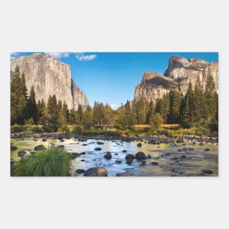 Sticker Rectangulaire Parc national de Yosemite, la Californie