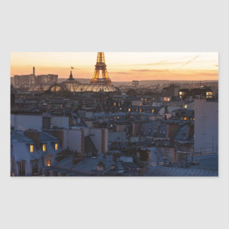 Sticker Rectangulaire Paris by night