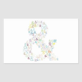 Sticker Rectangulaire Pastels d'esperluète