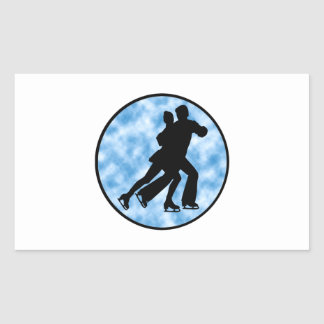 Sticker Rectangulaire Patin de couples