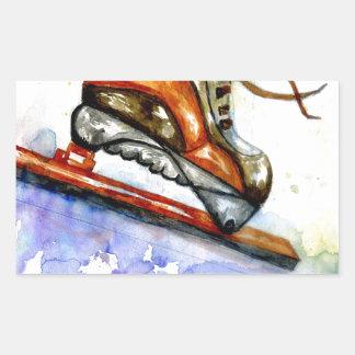 Autocollants stickers patinage de glace personnalis s for Glace rectangulaire