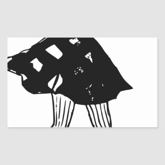 Sticker Rectangulaire Patinage de Madame glace