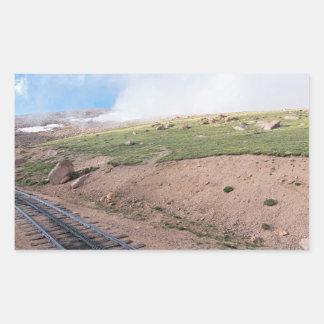 Sticker Rectangulaire Paysage le long de chemin de fer de dent