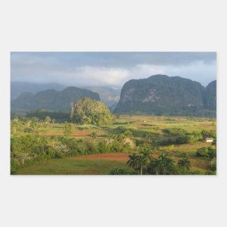 Sticker Rectangulaire Paysage panoramique de vallée, Cuba