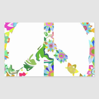 Sticker Rectangulaire peace9