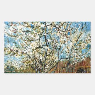 Sticker Rectangulaire Pêchers dans la fleur Vincent van Gogh