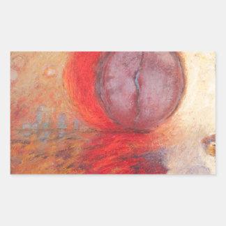 Sticker Rectangulaire Peinture à l'huile d'abrégé sur danse du feu