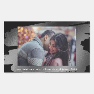 Sticker Rectangulaire Peinture de l'autocollant de photo de nouvelle