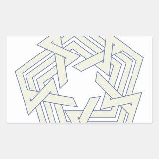Sticker Rectangulaire Penta