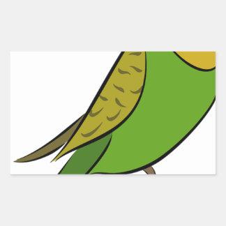 Sticker Rectangulaire Perruche