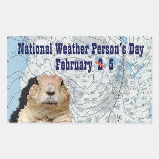 Sticker Rectangulaire Personne de temps jour 5 février national