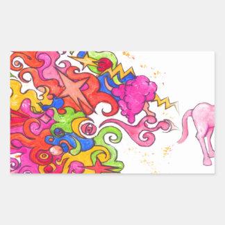 Sticker Rectangulaire Pet de licorne