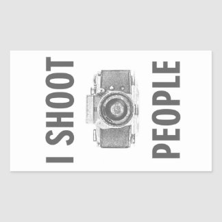 Sticker Rectangulaire photographe drôle d'appareil-photo de photo des