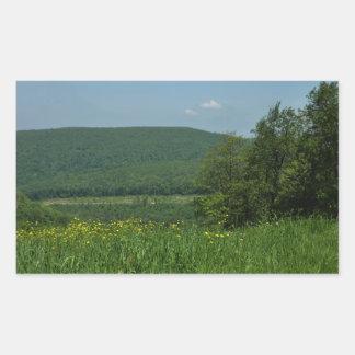 Sticker Rectangulaire Photographie d'été de la Pennsylvanie de montagnes