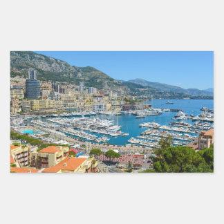 Sticker Rectangulaire Photographie du Monaco Monte Carlo