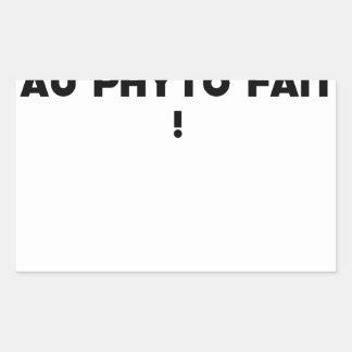 Sticker Rectangulaire PHYTOTHERAPY : AU PHYTO DIT, AU PHYTO FAIT ! - Jeu