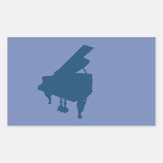 Sticker Rectangulaire piano