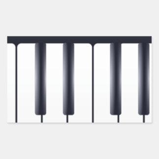 Sticker Rectangulaire Piano électrique