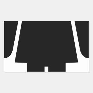 Sticker Rectangulaire Pictogramme de femme