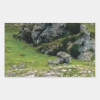 Sticker Rectangulaire pierre verte de merveille