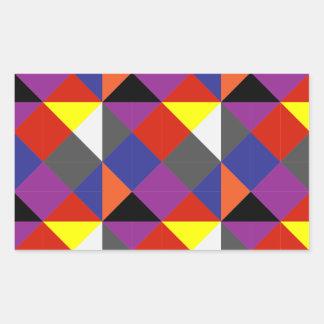 Sticker Rectangulaire Pierrot coloré