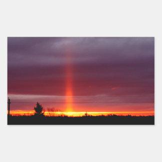 Sticker Rectangulaire Pilier du feu au coucher du soleil, île de St