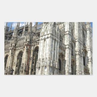Sticker Rectangulaire piliers de temple et de pierre