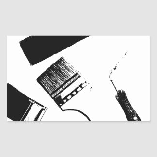 Sticker Rectangulaire pinceaux