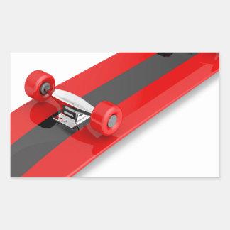 Sticker Rectangulaire Planche à roulettes