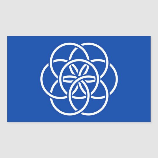 Sticker Rectangulaire Planet earth flag