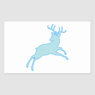Sticker Rectangulaire pochoir 2.2.7 de cerfs communs
