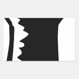 Sticker Rectangulaire Poing augmenté