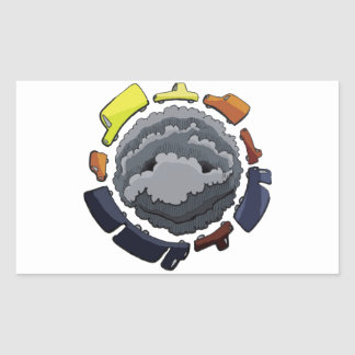 Sticker Rectangulaire pollution