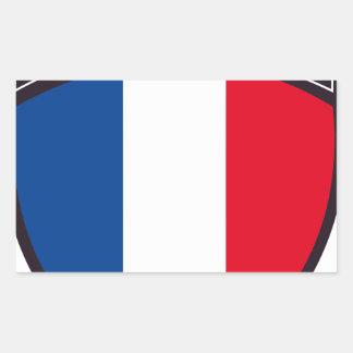 Sticker Rectangulaire pompier france