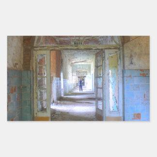 Sticker Rectangulaire Portes et couloirs 03,0, endroits perdus, Beelitz