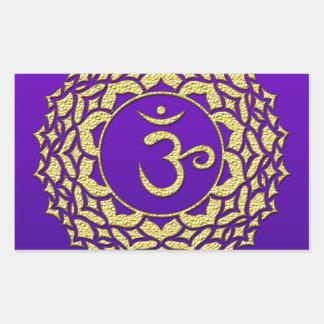 Sticker Rectangulaire Pourpre de Chakra de couronne