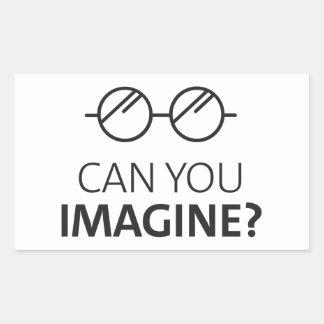 Sticker Rectangulaire Pouvez vous imaginer la chanson anglaise de John