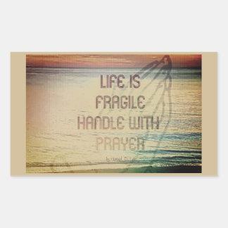 Sticker Rectangulaire Prière de la vie