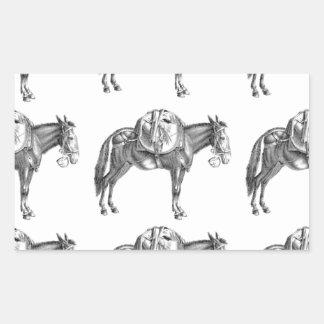 Sticker Rectangulaire prière de mule de paquet