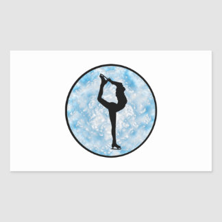 Sticker Rectangulaire Princesse de patinage de glace